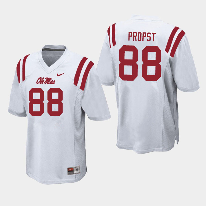 Men #88 Jack Propst Ole Miss Rebels College Football Jerseys Sale-White